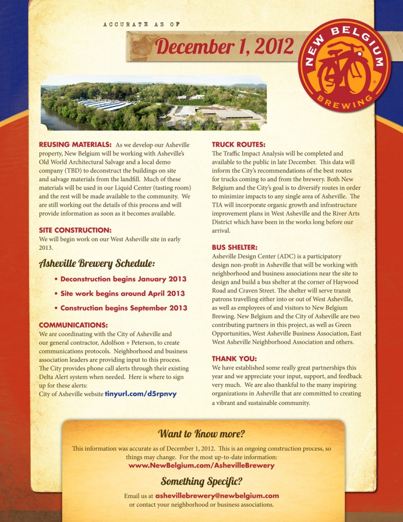 New Belgium Brewery FAQ's-December 2012