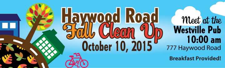 RSVP – Haywood Road Clean Up Day – West End – October 10