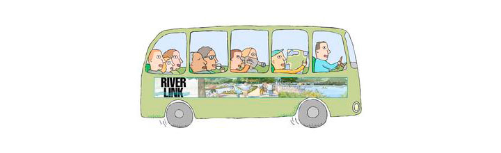 Join RiverLink for the  December RiverFront Bus Tour