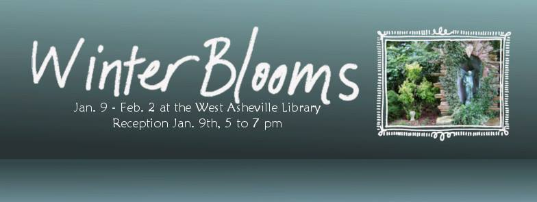 Winter Blooms Exhibit at the West Asheville Library