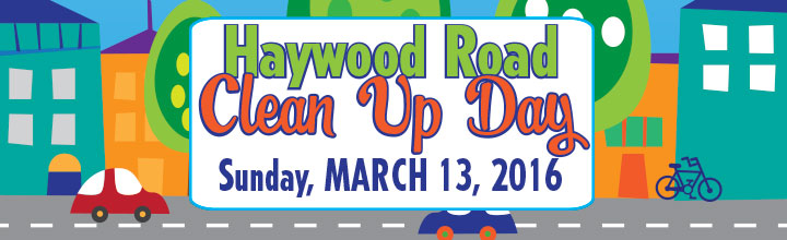 Haywood Road Clean Up Day: March 13, 2016