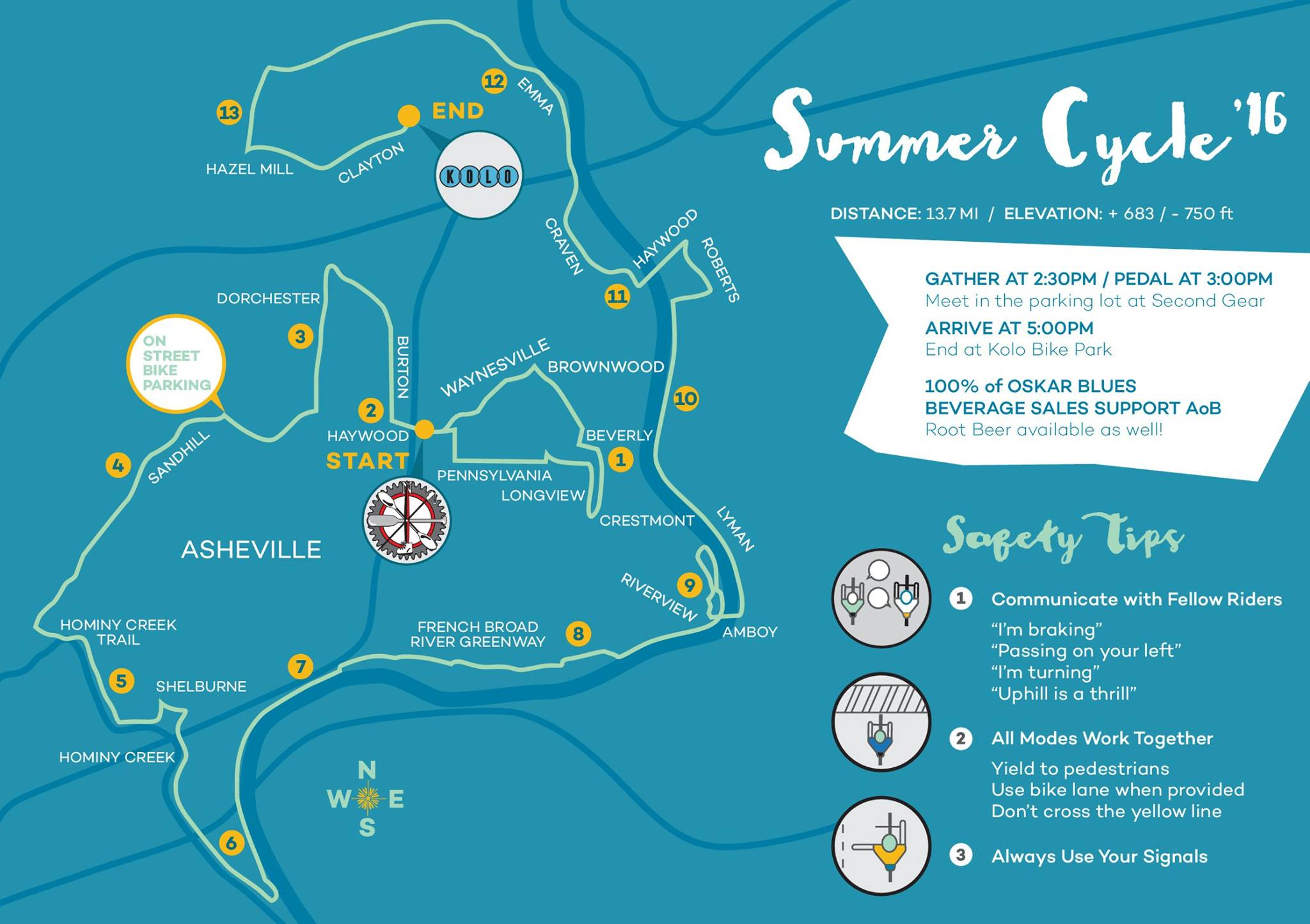 Asheville on Bikes Summer Cycle 2016: June 26