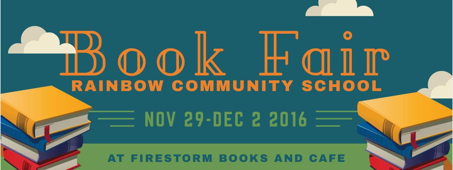 Rainbow Community School Book Fair at Firestorm